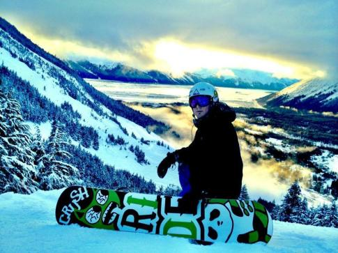 Matt at Alyeska