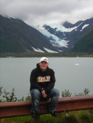 Matt at Portage Glacier
