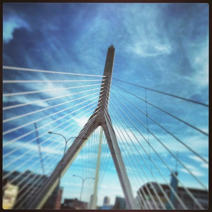 Bridges are a favorite of mine, and the Tobin in Boston is no exception. This, however, was taken on the fly and yes (shhh) I was driving! Thank goodness for sun roofs :) Oh, and thank you God that I'm still here (dumb, I know)